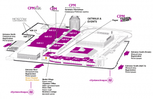 hall plan CPM Moscow general overview